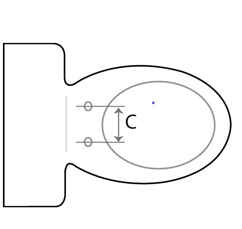 How to measure your toilet pan when selecting the right size bidet 2