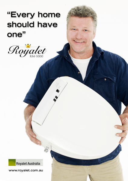 Scott Cam endorsing Royalet Bidets toilets